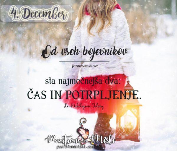 4. december - 365 modrih misli -  Od vseh bojevnikov