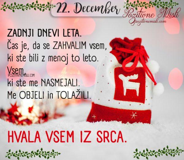 22. December - Zadnji dnevi leta