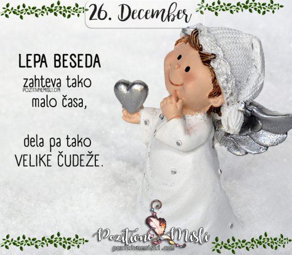 26. december - Lepa beseda