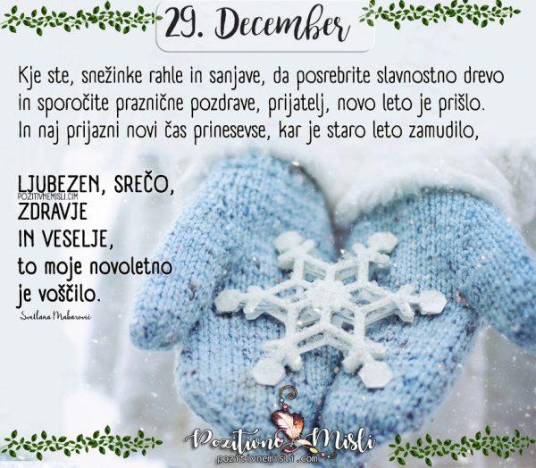 29. DECEMBER - 365 misli - Kje ste snežinke