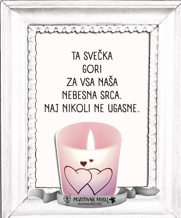 Svečka za naše nebesne ANGELE