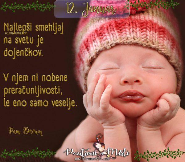 12. januar - 365 lepih misli - Najlepši smehljaj