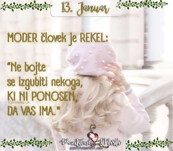 13. januar - Moder človek  ...