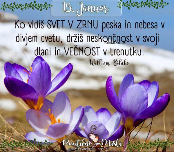 15. januar - 365 lepe misli za vsak dan