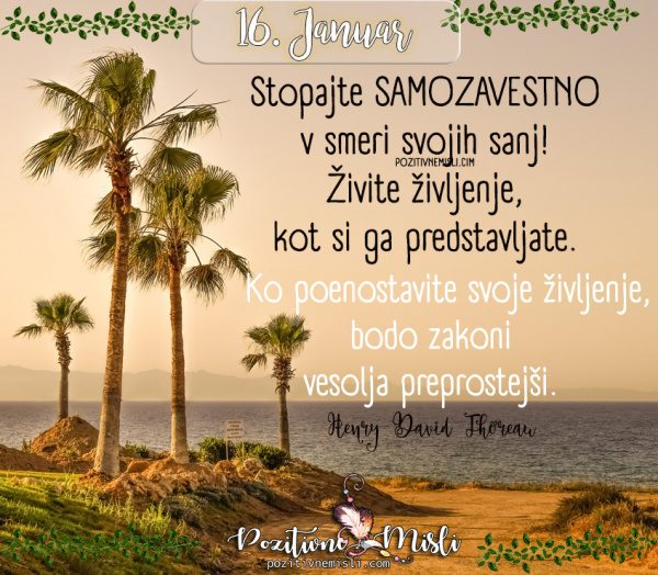 16. januar - Stopajte samozavestno  ...