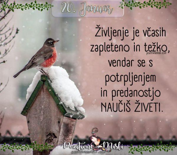 20. januar - 365 lepih misli za vsaki dan - Življenje je včasih