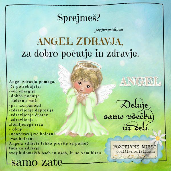 ANGEL ZDRAVJA - Angel za dobro počutje in ozdravljenje