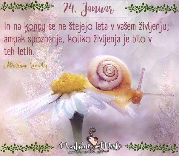 24. januar -365 lepih misli za vsak dan -  In na koncu