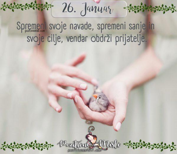 26. januar - Spremeni svoje navade
