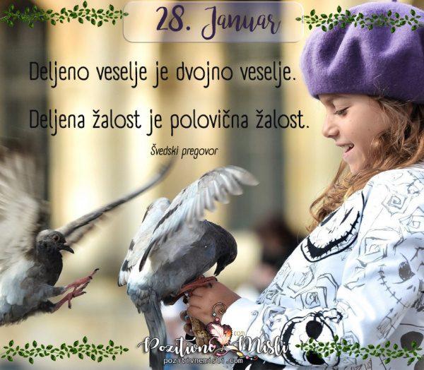 28. januar - 365 lepih misli za vsak dan - Deljeno veselje