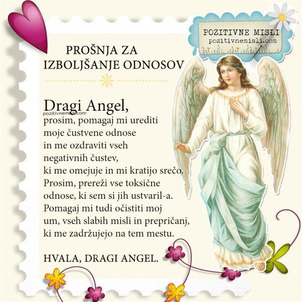 Pomoč angelov za izboljšanje medsebojnih odnosov