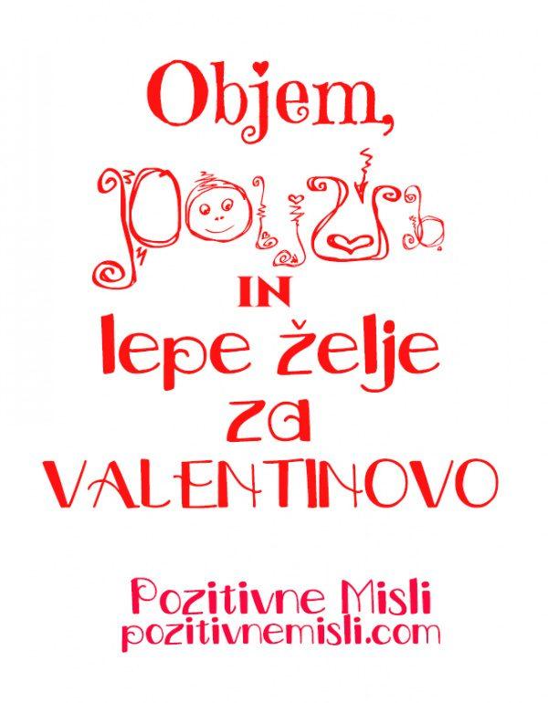 Valentinovo -verzi in misli