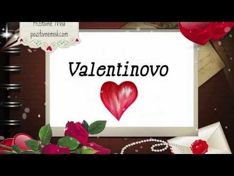 Valentinovo - lepe misli in verzi - video