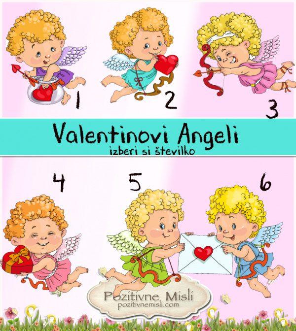 Valentinovi Angeli - izberi število - sporočila in misli za valentinovo