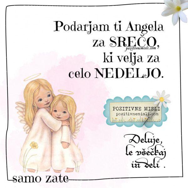 Nedelja - Angel za srečo