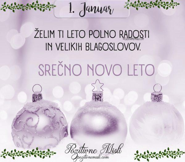 1. januar - Želim ti leto polno  radosti