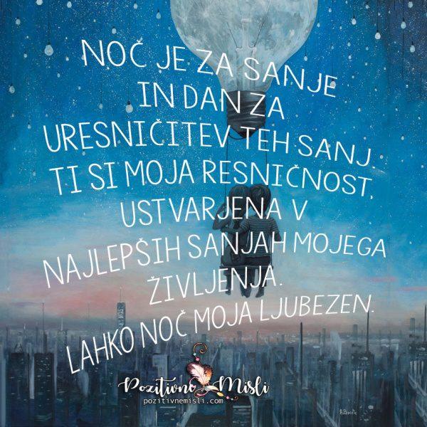 Najlepše misli za lahko noč