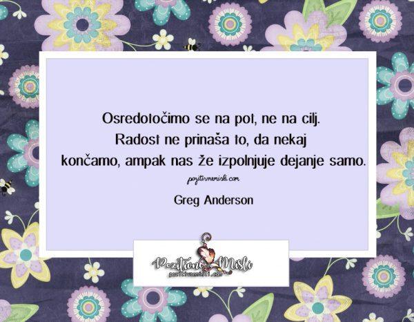 MISLI in CITATI - Greg Anderson