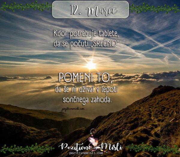 12. marec -  365 lepih misli za vsak dan
