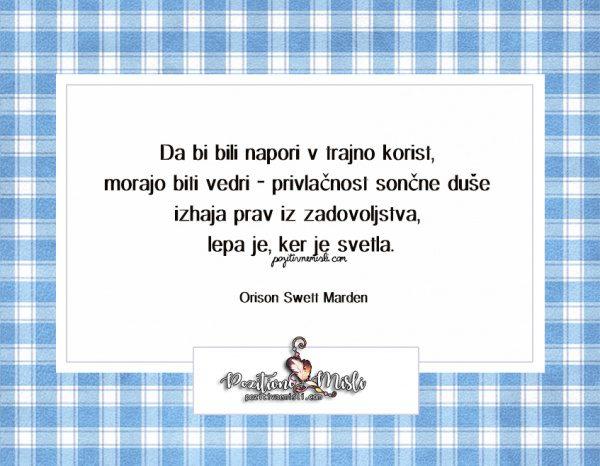 MISLI in CITATI  -   Orison Swett Marden