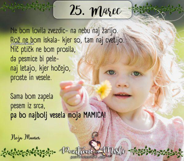 25. marec - 365 lepih misli za vsak dan -materinski dan