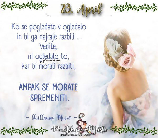 23. APRIL - lepe misli za vsak dan