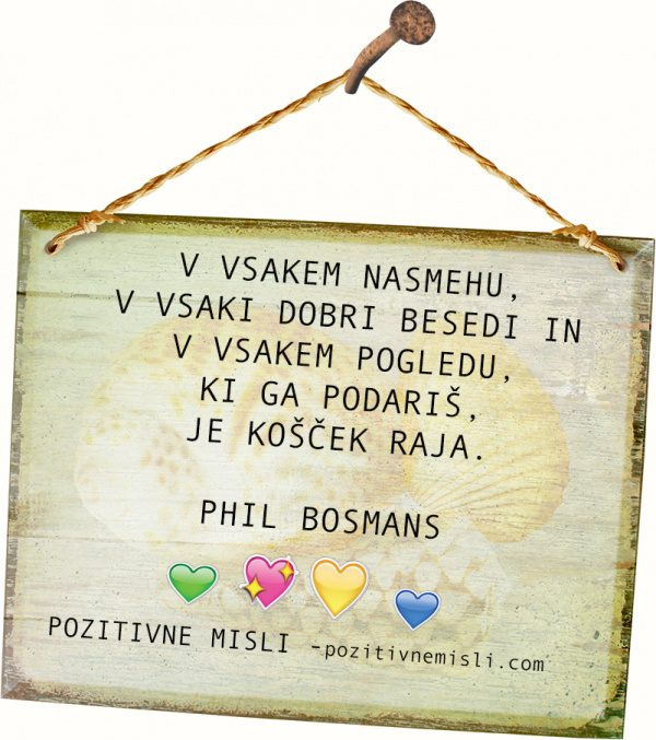 V vsakem nasmehu - Phil Bosmans