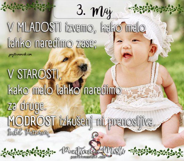 3. maj - 365 najlepših misli o življenju