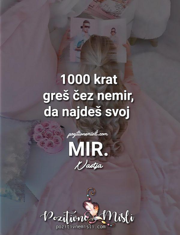 MISLI O MIRU - 1000 krat  ...