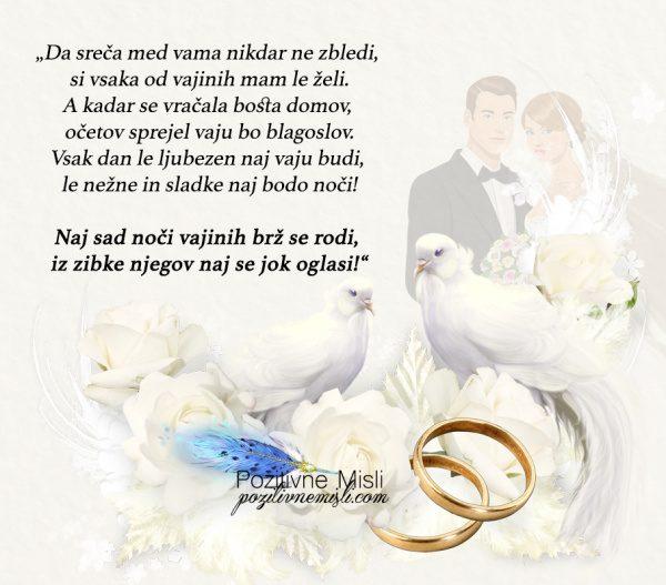 Poročni verzi - Da sreča med vama nikdar ne zbledi 💍