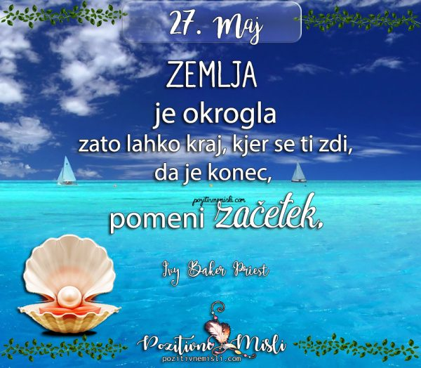 27. maj - misli za današnji dan