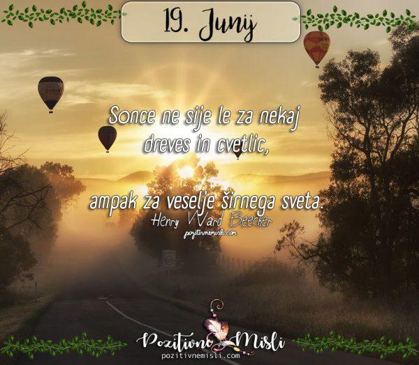 19. junij - 365 lepih misli za vsak dan