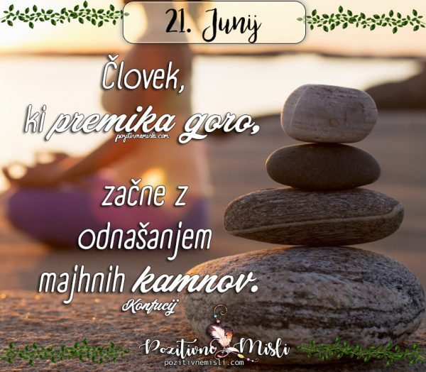 21. junij - 365 misli