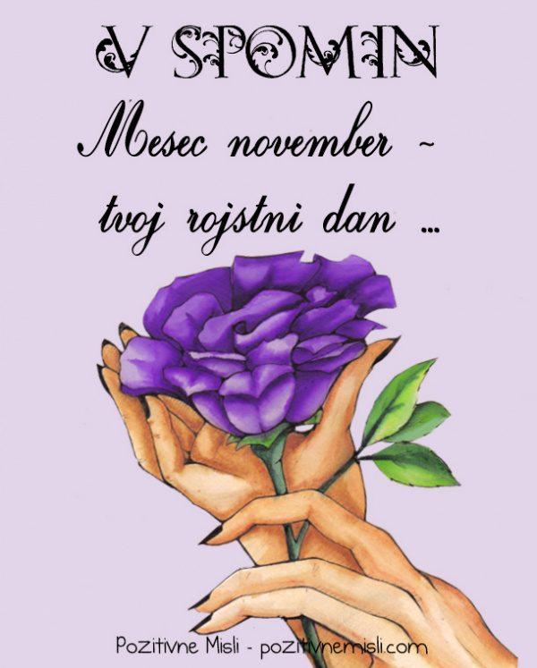 V spomin - November - tvoj rojstni dan