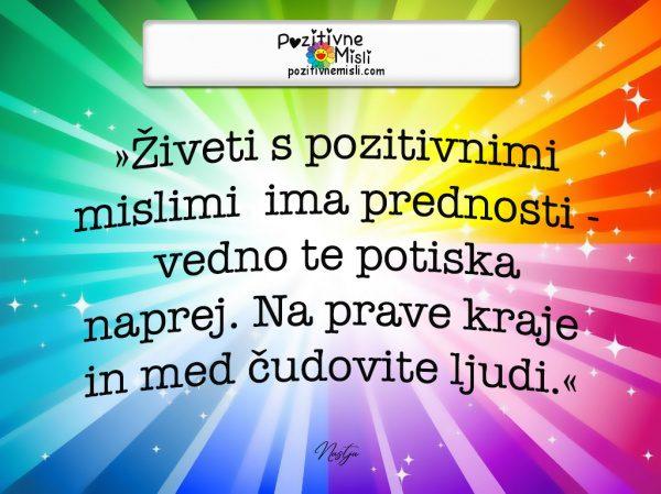 Pozitivne Misli o življenju - Živeti s pozitivnimi
