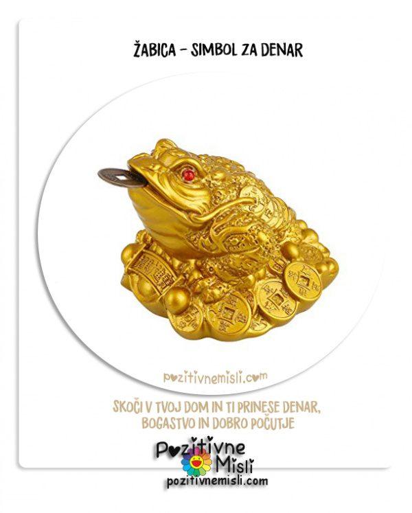 Feng Shui  -  žabica simbol za denar