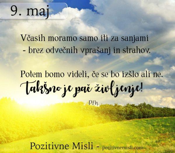 9. MAJ - 365 modrih misli