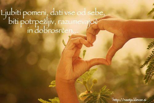 Ljubiti - pozitivne msili
