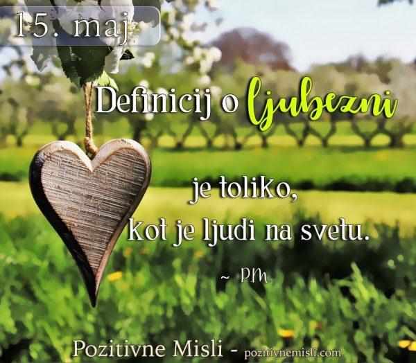 15. maj - 365 modrih misli - Definicij o ljubezni