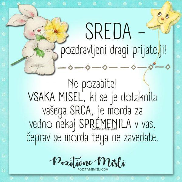 SREDA- misel za sredo -1