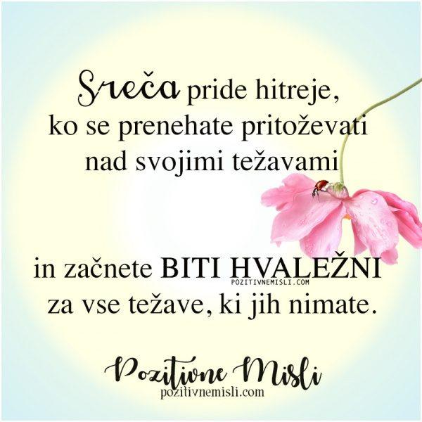 MISLI O SREČI - Sreča pride hitreje ...
