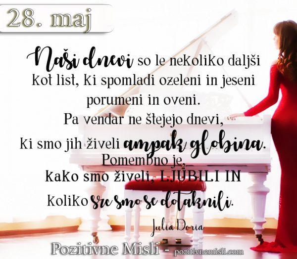 28. maj - 365 modrih misli - Naši dnevi so