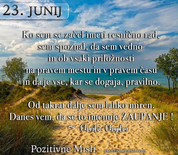 23. junij - Misli za vsak dan