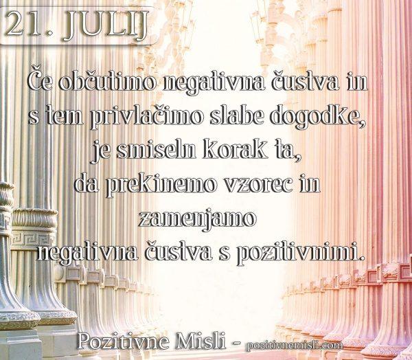 21. julij - 365 misli - Če občutimo negativna čustva