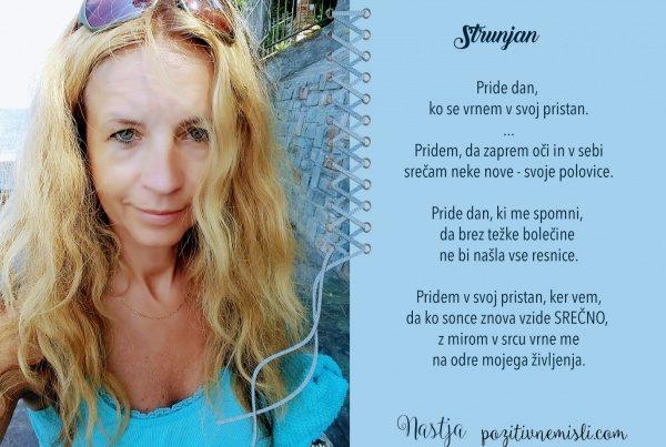 Nastja Klevže - Misli o življenju in potovanju - Strunjan