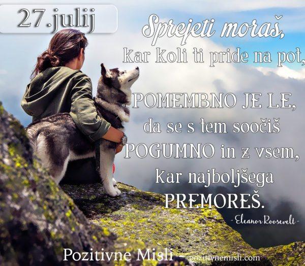 27. julij - 365 misli za vsak dan
