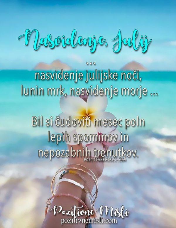 Nasvidenje julij ... Nasvidenje julijske noči