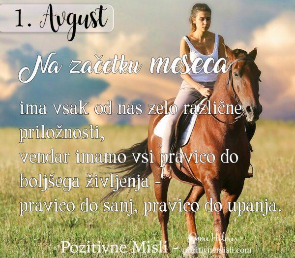 1. Avgust - 365 modrih misli - Pozitivne misli