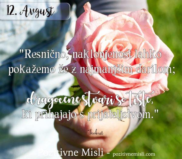 12. avgust - 365 misli za vsak dan - misel za današnji dan