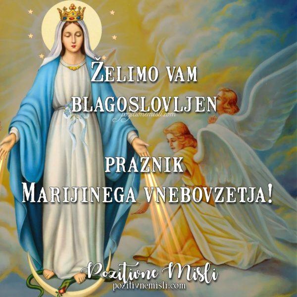 Blagoslovljen  praznik  Marijinega vnebovzetja